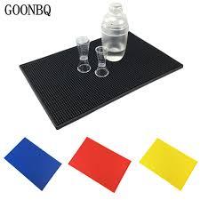 GOONBQ <b>1 pc</b> 3 Size & 4 Color Rectangle PVC <b>Bar</b> Mat Rubber ...