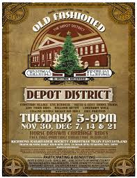 small christmas flyer go wayne county old fashioned christmas festival in depot district