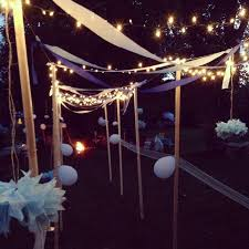awesome lighting plan for outdoor baby shower decoration at night awesome lighting