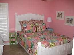 bedroom for girls: stencils on the walls upper border simple bedroom for girls