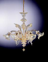 "<b>venetian glass chandelier</b> ""manin"" with 6 <b>lights</b> - venetian blown glass"