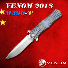 <b>Складной нож VENOM T</b> Kevin John M390 с титановой ручкой ...