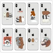 We Bare <b>Bears</b> 8miniso Cute <b>Cartoon silicone</b> soft <b>transparent</b> TPU ...