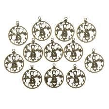 Jual <b>12pcs</b> Hollow Rabbit Clock Pendant <b>Charms</b> For Crafts <b>Jewelry</b> ...