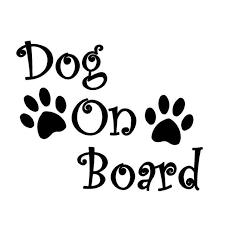 Online Shop Car Sticker <b>3D 20</b>*16.2cm DOG ON BOARD And Paw ...