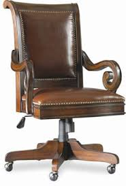Old World Cherry Burl Office Chair