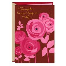 Pink Flowers with Gems Sweetest Day Card for Daughter - Greeting ...