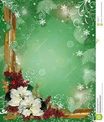 christmas border ribbons and poinsettias stock photos image christmas border ribbons and poinsettias