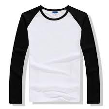 <b>2019 Autumn Winter Long</b> Sleeve T Shirt Men Contrast Color Round ...