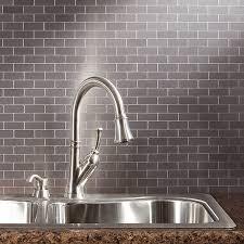kitchen backsplash stainless steel tiles: surprising decorations metallic kitchen backsplash full size