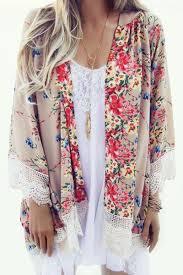 Beautiful <b>boho</b> floral and lace <b>kimono</b> | <b>Kimono blouse</b>, Fashion ...