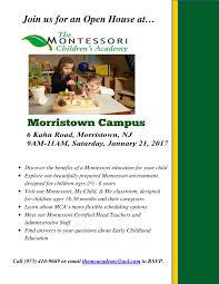 montessori preschool open house morristown nj news tapinto content options