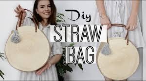 How to make a <b>round straw bag</b>   Owlipop DIY  - YouTube