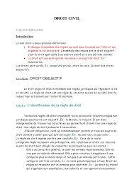 DROIT CIVIL Code civil Dalloz ou Lite Introduction Le mot droit a deux grandes d  finitions