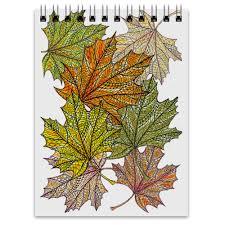 <b>Блокнот</b> Кленовые листья в стиле мехенди #2579939 от Achadidi ...