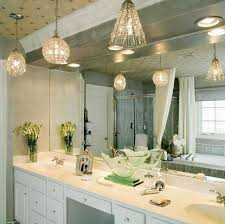 give star for beautiful bathroom pendant lighting with big mirror and white sink plus dark brown cabinet combine with green wall design photos above bathroom pendant lighting fixtures