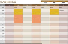 daily schedule templates for excel smartsheet class schedule template