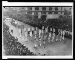 women suffrage timeline parade picture in new york city