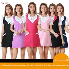 <b>Korean version of</b> apron beauty salon beautician manicure apron ...