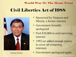 「1988, president reagan Civil Liberties Act of 1988」の画像検索結果