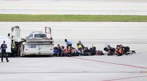 Scene at Fort Lauderdale Hollywood International Airport today where a gunman shot and and wounded