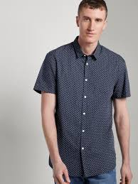 <b>Patterned short</b>-<b>sleeved</b> shirt - from TOM TAILOR Denim