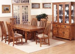 delivery dorset natural real oak dining set: homestead furniture classic mission solid oak dining set dining sets