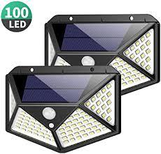 <b>Solar Lights</b> Outdoor <b>100</b> Led, Feob Upgraded Super Bright Motion ...