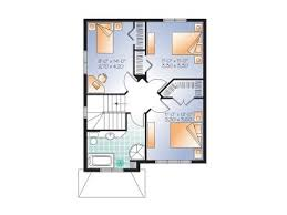 Small Home Plans   Small Two Story House plan Fits a Narrow Lot     nd Floor Plan