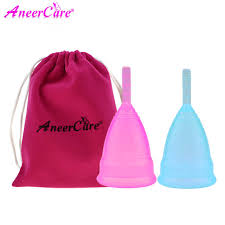 <b>2pcs</b>(S+L) Silicon cup copa lady <b>menstrual cup</b> feminine hygiene ...