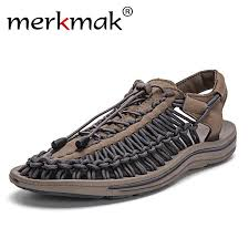 Merkmak <b>New 2018</b> Summer <b>Men</b> Sandals Fashion Handmade ...