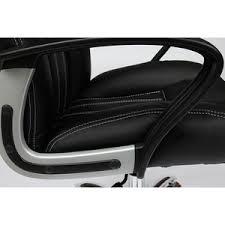 <b>Кресло</b> офисное <b>TetChair OXFORD хром</b> кож.зам, черный ...
