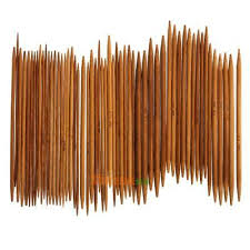 <b>55Pcs</b>/lot <b>11sizes 5</b>'' <b>13cm</b> Double Pointed Carbonized Bamboo ...