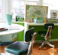 chic gorgeous attractive home office design idea with bright furniture color chic attractive home office