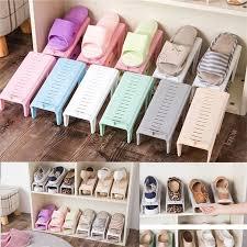 <b>Creative</b> Plastic <b>Shoes Rack Adjustable</b> Organizer Rack Space ...