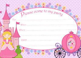 printable princess invitation template
