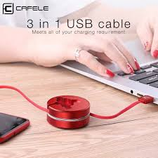 <b>Cafele</b> 3in1 USB Cable Type C Micro USB Cable for iPhone IOS 12 ...