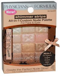 Physicians Formula <b>Shimmer Strips</b> All-in-1 <b>Custom</b> Nude Palette ...