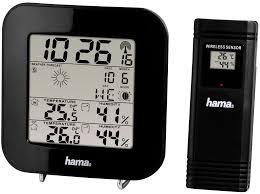 Метеостанция <b>Hama</b> EWS-200 black (черный) — купить погодную ...