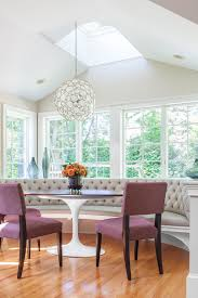 breakfast nook lighting dining room transitional with cupolas roof turrets built in bench breakfast nook lighting