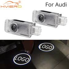 <b>2X For Audi Door</b> Light Welcome Light Projection Lamp Logo LED ...