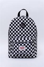 Oldy рюкзак checker all black/white - Бордшоп#1