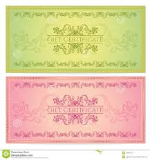 gift certificate voucher coupon template royalty stock gift certificate voucher coupon template