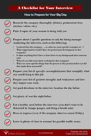 job interview preparation checklist tk job interview preparation checklist 24 04 2017