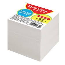 <b>Блок для записей BRAUBERG</b> проклеенный, куб 9×9×9 см, белый ...