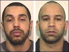 Colin Joyce and Lee Amos were both convicted of murder. Blow dealt to city's notorious gangs · Full list of charges and convictions - _45639189_joyce_amos_gmp226
