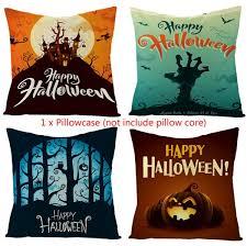 <b>Halloween</b> Night Pumpkin Ghost <b>Castle Pattern Pillow</b> Cover for ...