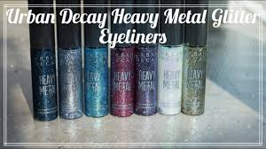 REVIEW: <b>Urban Decay Heavy Metal</b> Glitter Eyeliners - YouTube