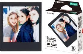 <b>Fujifilm instax SQUARE</b> Film (10 Sheets) <b>Black</b> Frame 16576532 ...