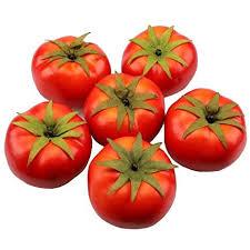 Buy <b>Gresorth 6pcs Artificial Lifelike</b> Simulation Red Tomato Fake ...